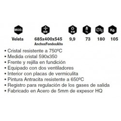 Insertable Veleta 70